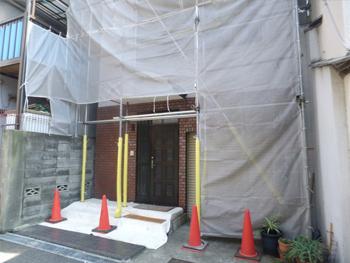外壁塗替え工事です。