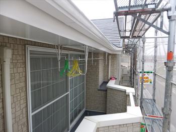 岸和田市のハイツ外壁塗替え工事です。